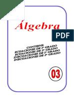algebra ecuaciones de 1er y 2do grado