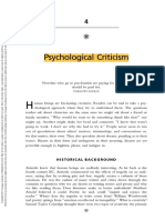 Psychological Criticism - Dobie