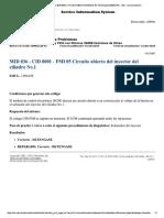 MID 036 - CID 0001 - FMI 05 Circuito Abierto Del Inyector Del Cilindro No.1