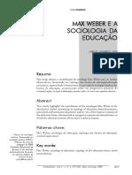 5.Max Weber e a Sociologia Da Educacao