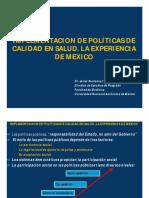 Implementacion de Politicas Publicas de Calidad en Salud - Mexico