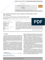 Heat Transfer and Pressure Drop Correlations for Finned Plate Ceramic Heat Exchangers