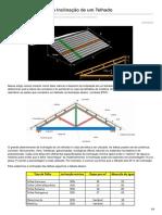 Cálculo e Desenho Da Inclinação de Um Telhado