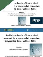 Trabajo de Investigación Huella Hídrica Ucv