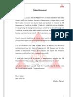 General Management Programme on VPCL(Essar Power)
