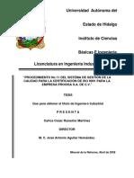 Procedimiento no 11 del sistema de gestión de la calidad para la certificación de ISO 9001 para la empresa PROCISA S.A. de C.V..pdf