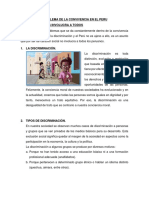 Problema de La Convivencia en El Peru-tarea