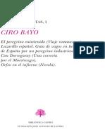 OBRAS COMPLETAS DE. CIRO BAYO. Edición y prólogo de Alicia Redondo Goicoechea y Tatiana Boal Rodríguez