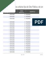 Lista Oficial de Precios Unitarios Fijos de Obra P Blica y de Consultor a - DePARTAMENTO de BOYAC 2017
