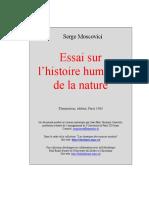 Moscovici, S. 1977. Essai Sur l' Histoire Humaine de La Nature
