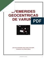 Efemerides de Varuna