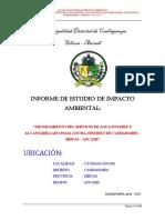 Estudio de Impacto Ambiental Saneamiento Pasacancha