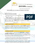 Programa de Estudios de Ingles en Sede - Grupal 2017 Correo General