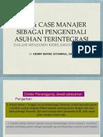 4.DPJP & Case Manajer Sebagai Pengendali Asuhan Terintegrasi