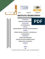 Unidad 1. Evolucion y Taxonomia Del Mantenimiento.
