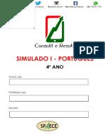Simulado I - Port - 4º Ano - ( Blog Do Prof. Adonis)