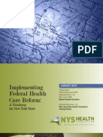 Implementing Federal Health Care Reform