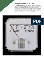 DBm - Tabela de Conversão DBm x Watts x Volts