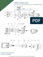 Jabsco 15780-0000 Parts List