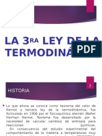 3er Ley de La Termodinamica- Exposicion