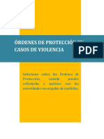 Ordenes de Proteccion en Casos de Violencia