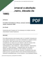 Cucumbis Carnavalescos- Áfricas, carnav...lição (Rio de Janeiro, década de 1880)