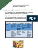Causas de La Creación Del Virreinato Del Perú