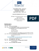 2018 clague chicago itinerary