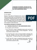 Statement by Uganda Minister of Internal Affairs on Murders of Women - September 2017