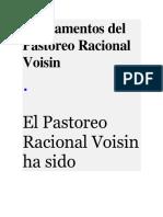 Fundamentos Del Pastoreo Racional Voisin