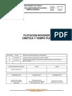 Procedimiento LM CEN Cinética Flotacion Rougher Nov 2015