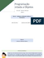 GCC110 - Parte 06 - Atrib-Metodos Estaticos e Destrutores