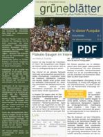 grüneBlätter Nr. 3 August 2010