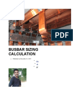 Busbar Sizing Calculation