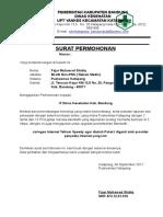 Surat Permohonan Penambahan Bandwtih