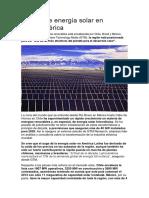 Ru00e9cord de Energu00eda Solar en Latinoamu00e9rica
