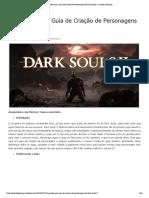 O Grande Guia - Guia de Criação de Personagens de Dark Souls 2