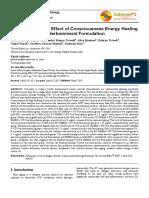Trivedi Effect - Skin Rejuvenating Effect of Consciousness Energy Healing Treatment Based Herbomineral Formulation