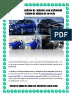 Principales beneficios de contratar a un profesional para el trabajo de pintura de su coche