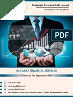 Derivatives 7th September 2017, Thursday