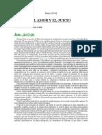 EL AMOR Y EL JUICIO