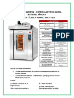 TASACION DE HORNO ELECTRICO NOVA - PERU