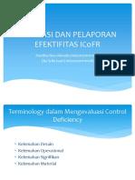 Evaluasi Dan Pelaporan Efektifitas Icofr