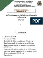 Enfermedad de Von Willebrand. Diagnóstico Laboratorial