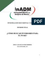 Johan Sanchez | Informe Final | Propedeutico UnADM