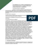 Estudio de Impacto Ambiental de La Línea de Transmisión