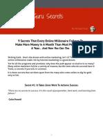 9 Guru Secrets