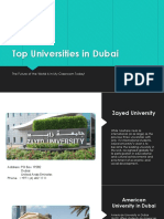 Top Universities in Dubai