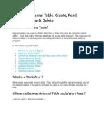 SAP ABAP Internal Table