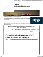 Commissioning Procedure of HT Capacitor Bank and Reactor - Basic Electrical Design